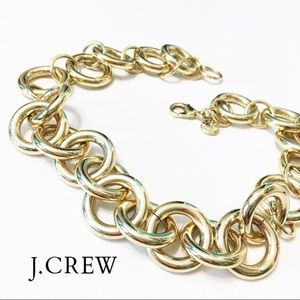 J. Crew Gold Ring Chain Link Necklace